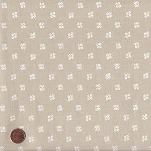 Tessuto natalizio - fiori - tessuto ostrica perla | 100% puro cotone | altezza: 140 cm (1 metro), a metro / metraggio