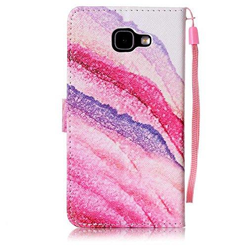 BoxTii® - Custodia a portafoglio in pelle + pellicola protezione schermo in vetro temperato, con cover posteriore, per Apple iPhone 6/6S, modello colorato con cinturino da polso e scomparti per carte  #6 Pink