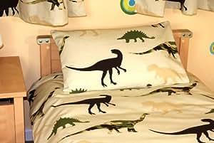 Housse de couette enfant/bébé Dinosaure - 120x150cm + 40x60cm - Cotton