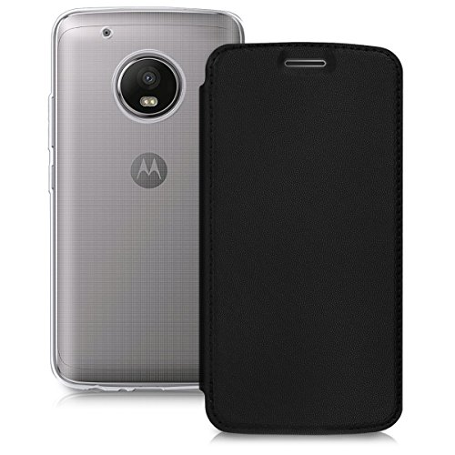 kwmobile Motorola Moto G5 Plus Hülle - Kunstleder Handy Schutzhülle - Flip Cover Case für Motorola Moto G5 Plus