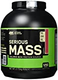 Optimum Nutrition Serious Mass Weight Gainer (mit Kohlenhydrate, Whey Eiweißmischung Pulver, Vitaminen, Kreatin und Glutamin, Protein Shake von ON) Strawberry, 8 Portionen, 2,73kg