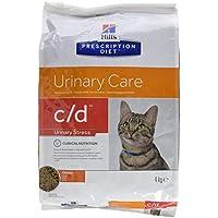 Hill' s presciption Diet Féline C/D MULTICARE Pollo–Cibo per Gatti–Salute del Sistema urinaria–4kg