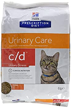 HILL'S Presciption Diet Féline c/d Multicare Poulet - Nourriture pour Chat - Santé du système urinaire - 4 kg