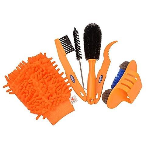 6Fahrrad für Pinsel Kette Kits Reinigung Werkzeug-Set Tire Pinsel Kette Wash Bremsscheibe Reiniger