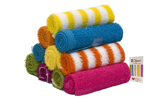 Skumars Love Touch Knitted Face Towels Set (Pack of 10)...
