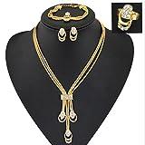 GYJUN Vintage/Niedlich/Party/Freizeit - Damen - Halskette/Ohrring/Armband/Ring ( Legierung/Zirkonia/Edelstein & Kristall ) , gold