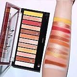 12 colori ombretto Makeup Palette trucco impermeabile e durevole non è facile da eliminare ombretto combinazione trucco, opaco e flash (02#)