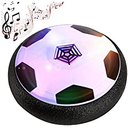 Música Air Hover Ball, Gosear LED luz intermitente bola de aire Power Soccer Ball Colorido Disco interior Fútbol Divertido Juguete de los Niños de Regalo, Aire Flotando Pelota