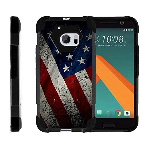 turtlearmor | Kompatibel für HTC 10Fall | One M10Fall | HTC 10Lifestyle [Dynamischer Shell] Hybrid Dual Layer Hard Shell Cover Ständer Silikon Fall -, US-Flagge