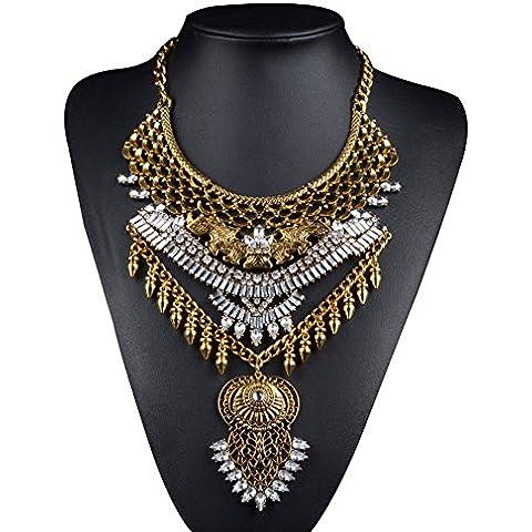 Cexin moda vintage argento oro Boho lunga dichiarazione collana alla moda Bohemian Turco per le donne accessori da Indiano Gioielli