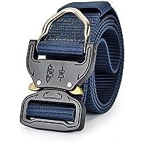 LUOEM Cinturón táctico de Nylon cinturón táctico de Secado rápido Hombres Mujeres cinturón Casual (Camo Verde)