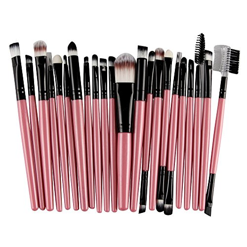 MRULIC 22pcs Make UP Pinsel Pinselset Schminkpinsel Kosmetikpinsel Kosmetik Brush (Y-22Stück) -