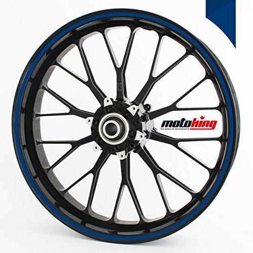 Adesivi per bordi dei cerchi Motoking 360°/ di larghezza di 6 mm / blu scuro (6 Mm Opaco)