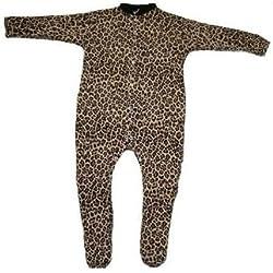 BabywearUK Pijama Leopard Print British Made Leopardenprint Talla:12-18months