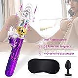Vibratoren mit Klitorisstimulation,Vibratoren Dildo Sexspielzeug für Frauen Aufladbarer Massagegerät Wasserdicht Butterfly Vibratoren mit Stoßfunktion,Dual Motor Klitoris Vibrator für Sie