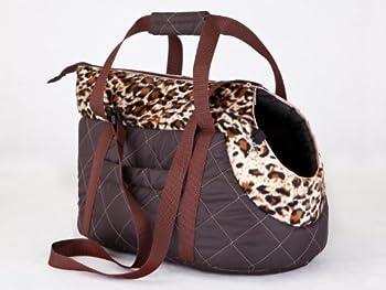 HobbyDog, Sac de transport pour chiens et chats, taille 3, marron avec motif panthère