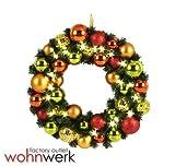 Kranz 40cm 20 Lichter Weihnachtsdeko X Mas Weihnachten Türkranz - Gold