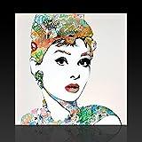 Wandbild Kunstbruder Audrey Tags (div. Größen) 3D 4cm - Street Art Kunst Druck auf Leinwand100x100cm