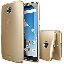 Nexus 6 Funda - Ringke SLIM Funda [Protección Todo Alrededor][ROYAL GOLD]Funda Hard Top y Bottom Cobertura Completa Prima Dual Coated para Google Nexus 6 (No para Huawei Nexus 6P 2015) - Eco Paquete