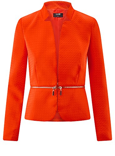 oodji Ultra Donna Giacca con Parte Inferiore Staccabile Rosso (4500N)