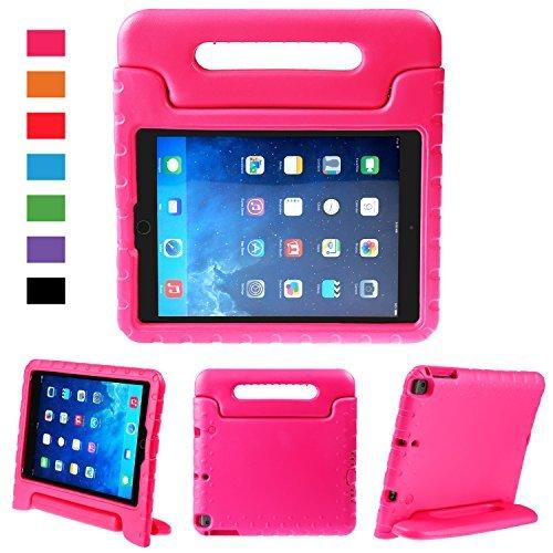 BELLESTYLE iPad 9,7 Pouces 2017/2018 Cas - EVA Stand Étui Enfants Housse Antichoc Protecteur Coque avec Convertible Poignée pour Tablette Apple iPad 9.7 2018/2017, iPad Air/iPad Air 2 (Magenta)