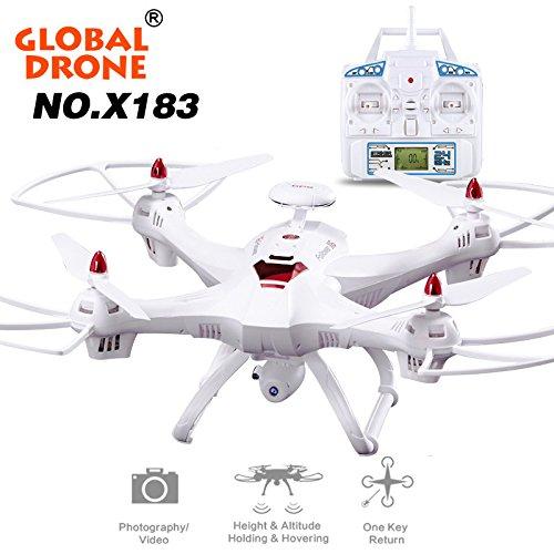 ane COLORFUL Globale Drone 6 Achsen X183 mit 2MP WiFi FPV HD Kamera GPS Brushless Quadcopter (Weiß) (Schlüssel Zur Realität)