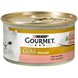 Purina - Gourmet Gold Mousse Salmón - Pack de 24 x 85 g - Total 2040 g