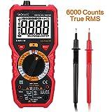 Tacklife DM01M Advanced Version Digital Multimeter Multi Tester mit 6000 Counts, True RMS, 1000V Non Contact Voltage,Temperatur, Live Wire, Beep Kontinuität Test mit hintergrundbeleuchtetem groß LCD anwendbar für DIY