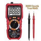 Tacklife DM01M Multímetro Digital ,Amperimetro Tester sin Contacto Resistencia sonda ,Temperatura Resistencia ,Counts 6000&True Rms ,puede medir AC/DC
