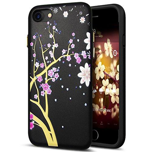 Cover iPhone 8,Cover iPhone 7,Custodia iPhone 8 / iPhone 7 Cover,ikasus® Cover custodia iPhone 8 / iPhone 7 disegno colorato TPU con 3d arte pittura floreale fiore fiori ciliegio girasole modello Cust Fiore #4