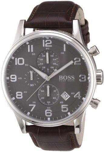 Hugo Boss Herren-Armbanduhr HB-2006 Chronograph Quarz Leder 1512570