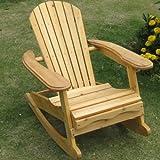 Trueshopping Little Bowland Adirondack Rocking chair en bois naturel