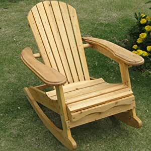 trueshopping little bowland adirondack rocking chair en bois naturel bricolage. Black Bedroom Furniture Sets. Home Design Ideas