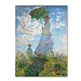Trademark Fine Art Markenzeichen Fine Art Frau mit einem Sonnenschirm 1875Artwork von Claude Monet, 24 by 32