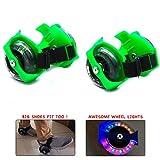 #6: Wembley Toys Street Gliders Roller Skates, LED Light-up Wheels (2 Wheels) (Green)