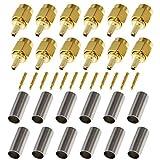 beelion (TM) Baumwollmusselin SMA Stecker Crimp Gerade, RF Koax Adapter für RG188RG178RG316rg174a-u/lmr100a/rfc100a Kabel