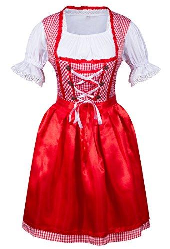 HIMONE Damen 3 Tlg Dirndl Serving Wench Bayerisches -