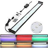 Amzdeal Lámpara Acuario Luces Impermeable LED paraAcuarios de Peces y Estanquescon Control Remoto (144 granos de la lámpara)