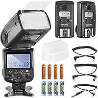 Neewer® MK910 i-TTL ad alta velocità di sincronizzazione 1/8000s Display LCD Speedlite HSS, Master/Slave Kit Flash per Nikon D3S, D60, D70, D70S, D80S D80 D200 D300, D300S, D700, D3000, D3100, D5000, D5100 e D7000 tutte le altre fotocamere Nikon DSLR, incluso: 1 MK910 MK-Flash Speedlite RC10N paragrafo 2, ricetrasmettitore Wireless Flash TTL HSS, paragrafo 1, SB-900 Diffusore 8 batterie, cavi, N1, paragrafo 2-Cavo, N3)