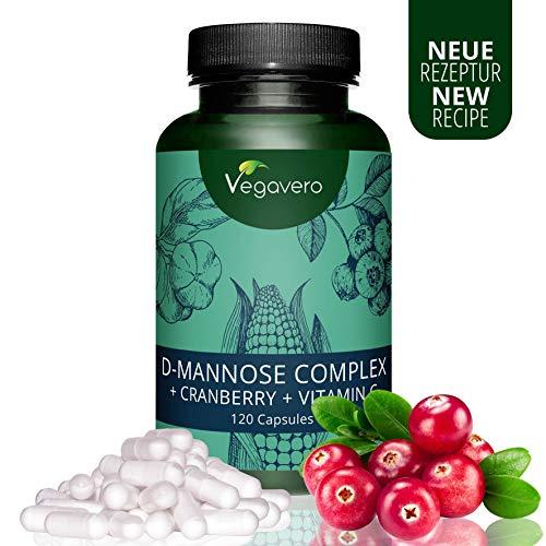 Integratore per PROSTATA e CISTITE Vegavero | D-MANNOSIO con Mirtillo Rosso e Vitamina C Naturale | Contro le Infezioni delle Vie Urinarie | D-Mannose Complex | Vegan
