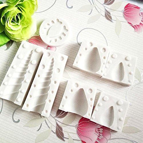 CALISTOUK - Molde silicona 3D diseño unicornio hornear