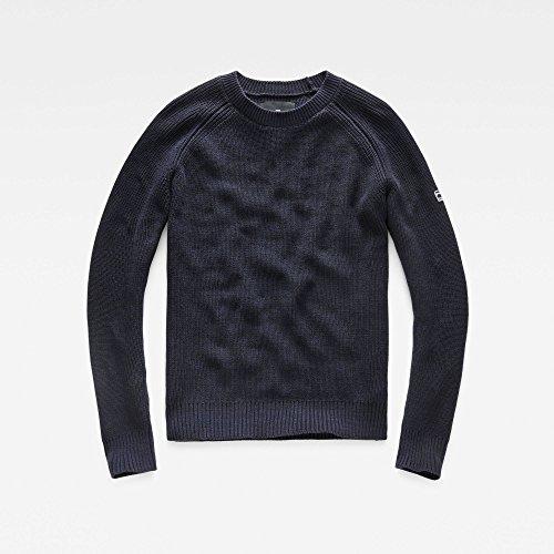 G-STAR RAW Herren Pullover Jayvi R Knit L/S Mehrfarbig (Sartho Blue/Black 6350)