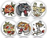Freestyle Libre Sticker - 6er Set'Tattoo' | Diasticker