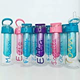 Sports bottle, fruit infuser bottle, personalised water bottle for kids, adults school, work sports club and gym