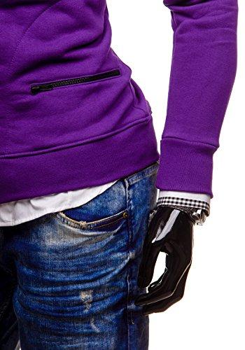 BOLF - Felpa con cappuccio - Con cerniera - BOLF 31S - Uomo Violet