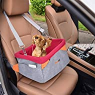 Legendog Dog Car Seat, Waterproof Breathable Pet Dog Cat Car Booster Seat Deluxe Portable Travel Car Carrier Bag for Small Dogs Puppies