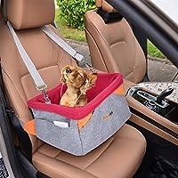 Autositz Hund, Legendog Hundetransportbox   Hundetragetasche   Transportbox für Hunde   Wasserdichter Autositzbezug für Hunde   mit Kissen und verstellbarem Gurt   Kleine Hunde Welpen Katzen   41 * 32 * 21 CM (Hund Autositz)