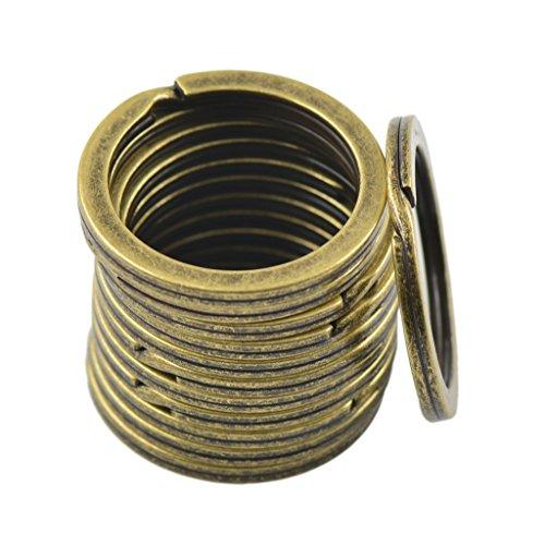 Preisvergleich Produktbild Generic Biegeringe Spaltringe Federringe Ringe 28mm Bronze