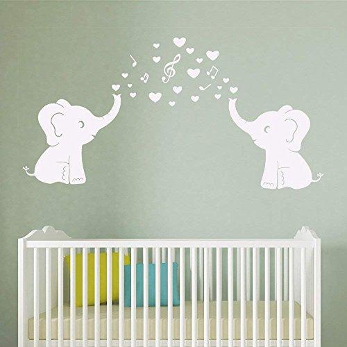 2 bonitos adhesivos de pared con diseño de elefantes y burbujas para...