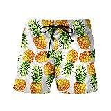 JYJM Beiläufige Ananas-Druckfrucht der Männer Druckte Strandarbeit-beiläufige Männer Kurze Hosen-Kurzschluss-Hosen
